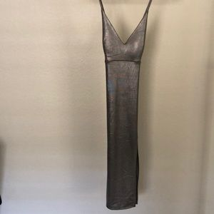 Metallic tight dress
